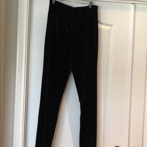 Chico's black velvet straight leg pants.